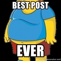 comic book guy - Best Post ever