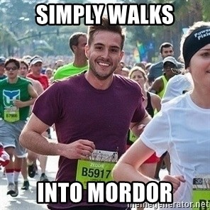 Ridiculously photogenic guy (Zeddie) - simply walks into mordor