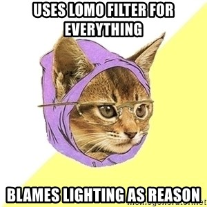 Hipster Kitty - uses lomo filter for everything blames lighting as reason