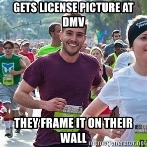 Ridiculously photogenic guy (Zeddie) - gets license picture at dmv they frame it on their wall
