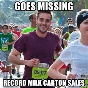 Ridiculously photogenic guy (Zeddie) - Goes Missing Record Milk carton Sales