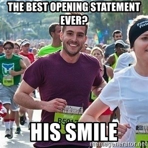 Ridiculously photogenic guy (Zeddie) - The best opening statement ever? his smile
