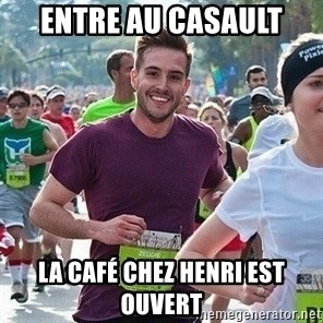 Ridiculously photogenic guy (Zeddie) - Entre au casault La café chez henri est ouvert