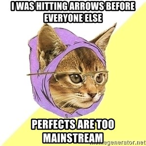 Hipster Kitty - i was hitting arrows before everyone else perfects are too mainstream