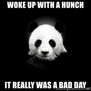 SuicidePanda - woke up with a hunch it really was a bad day