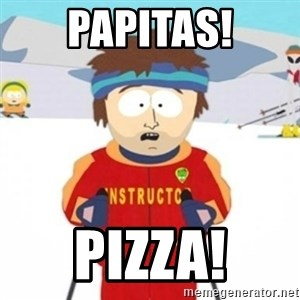 Bad time ski instructor 1 - papitas! pizza!