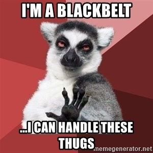 Chill Out Lemur - I'm a blackbelt ...i can handle these thugs