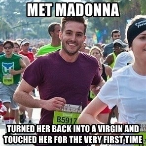 Ridiculously photogenic guy (Zeddie) - met madonna turned her back into a virgin and touched her for the very first time