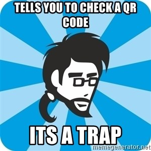 typical_proger_new - tells you to check a qr code its a trap