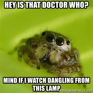 The Spider Bro - Hey is that doctor who? mind if i watch dangling from this lamp