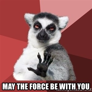 Chill Out Lemur - may the force be with you