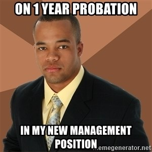 Successful Black Man - on 1 year probation in my new management position