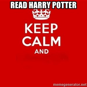 Keep Calm 2 - read Harry Potter