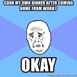 Okay Guy - COOK MY OWN DINNER AFTER COMING HOME FROM WORK? OKAY