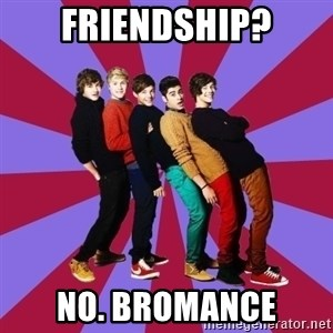 typical 1D - Friendship? No. Bromance