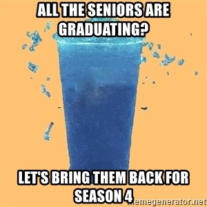 Gleek - All the seniors are Graduating? Let's Bring them back for season 4