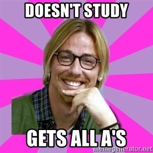 gutiguti - Doesn't study Gets all a's