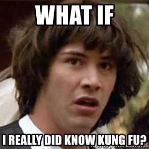 Conspiracy Keanu - What if i really did know kung fu?