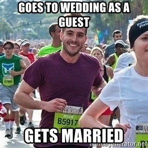 Ridiculously photogenic guy (Zeddie) - goes to wedding as a guest gets married