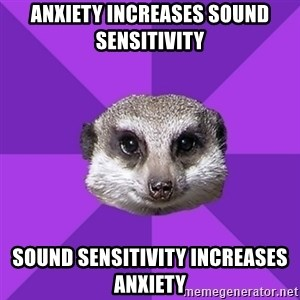 Misophonia Meerkat - Anxiety increases sound sensitivity sound sensitivity increases Anxiety