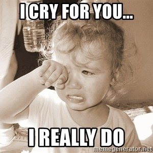 Distressed Toddler - I cry for you... I really do