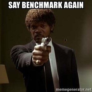 Jules Pulp Fiction - Say Benchmark Again