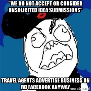"""runDisney Rage - """"we do not accept or consider unsolicited idea submissions"""" travel agents advertise business on rd facebook anyway"""