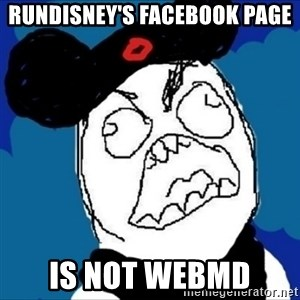 runDisney Rage - rundisney's facebook page is not webmd