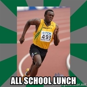 Usain Bolt - ALL SCHOOL LUNCH