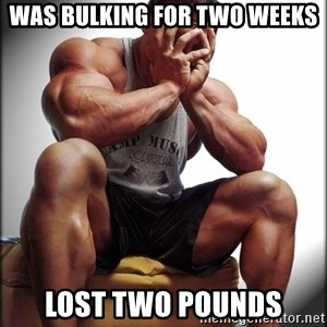Fit Guy Problems - was bulking for two weeks lost two pounds