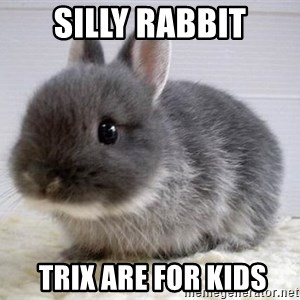 ADHD Bunny - Silly rabbit  Trix are for kids