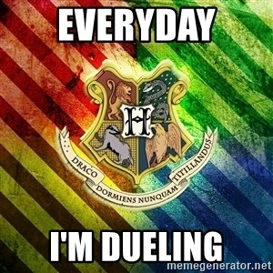 Typical Potterhead - Everyday  I'm dueling