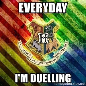 Typical Potterhead - EVERYDAY I'M DUELLING