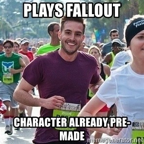 Ridiculously photogenic guy (Zeddie) - plays fallout CHARACTER already pre-made