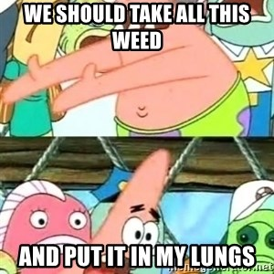 Push it Somewhere Else Patrick - we should take all this weed and put it in my lungs