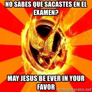 Typical fan of the hunger games - No sabes que sacastes en el examen? May Jesus be ever in your favor