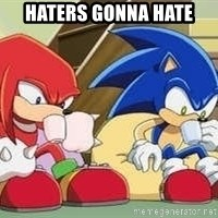 sonic - Haters gonna hate