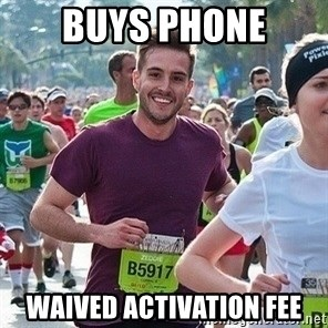 Ridiculously photogenic guy (Zeddie) - buys phone waived activation fee