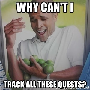 Limes Guy - why can't i track all these quests?