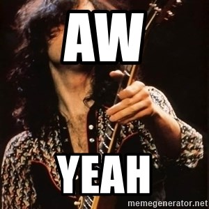 Jimmy Page - aw yeah