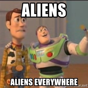 Buzz - aliens aliens everywhere