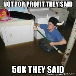 laundry room viking 2012 - Not for profit they said 50K they said
