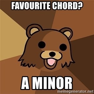 Pedobear81 - fAVOURITE CHORD? A MINOR