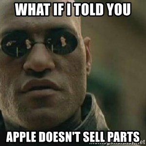 Scumbag Morpheus - WHAT IF I TOLD YOU APPLE DOESN'T SELL PARTS