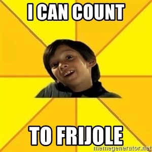 es bakans - i can count to frijole