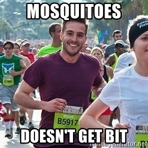 Ridiculously photogenic guy (Zeddie) - MOSQUITOES  Doesn't get bit