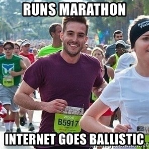 Ridiculously photogenic guy (Zeddie) - runs marathon internet goes ballistic