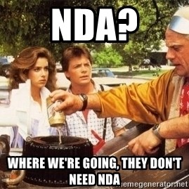 Doc Brown Roads - NDA? Where we're going, They don't need NDA