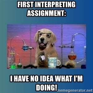 Chemistry Dog - first interpreting assignment: I have no idea what i'm doing!
