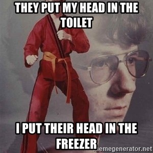 PTSD Karate Kyle - They put my head in the toilet I put their head in the freezer